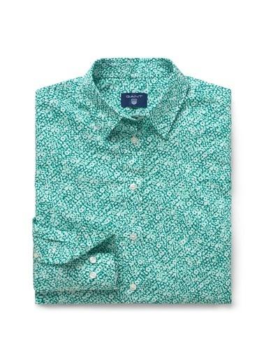 Gant Desenli Slim Gömlek Yeşil
